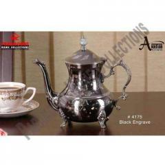 Black Engrave Teapot