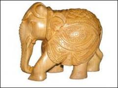 Wooden Crafted Elephant