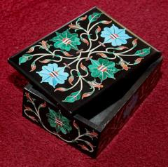 Black stone rectangular box