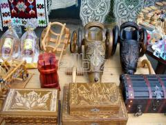 Souvenirs made of wood