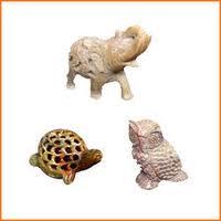 Semi-Precious Stone Animal Statues