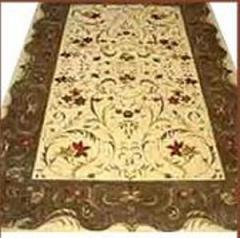 Handmade Knotted Wool Silk Carpet
