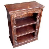Wood Carved Bookshelf
