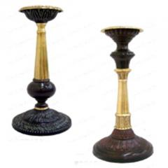 Gilt Bronze Double Finish Candle Stand