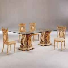 Resin and Fiber Dining Tables