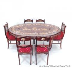 Oval Dining Table With 6 Chairs