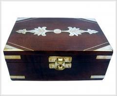 Brass Inlaid Jewelry Box
