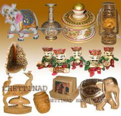 Carved wood handicraft