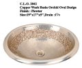 Copper Wash Basins