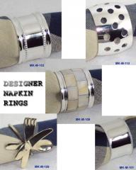 Brass Silverplated Napkin Rings