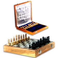 Carved Wooden Chess