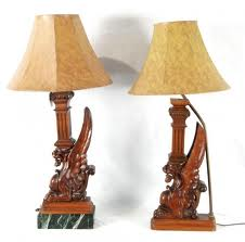 Wooden Carved Lamps