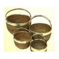Brass-cane-bamboo Baskets