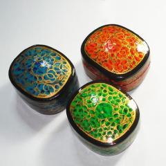 Handpainted Handmade Paper Mache Box