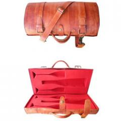 Leather Product(Leather Wine Bottle & Glass Case)