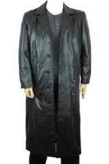 Classic Leather Raincoat