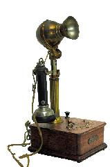 Antique Telephones(Wilhelm fluted shaft candlestick)