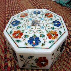 Inlay Marble Jewelry Box