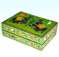 Hand Painted Wooden Box