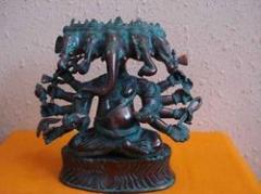 Brass Handicrafts-Brass Ganesha