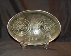 Decorative Carved Alluminium Dish