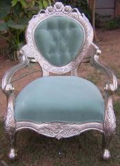 White Metal Sofa