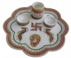 Marble Painting Thali