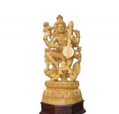 Dancing Saraswathi statuette
