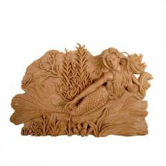 Wooden carving statue