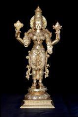 Goddess Vaishnavi in panchaloha