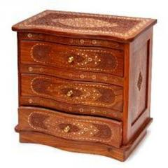 Wooden Chest With Three Drawers
