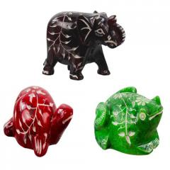 Stone Colorful Animals Statues