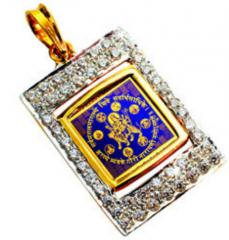 Gold Pendant With Durgaji's Navroop &