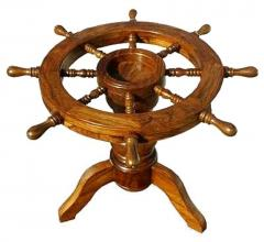 Wooden Ship Wheel Table