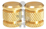 Brass Inserts Diamond Knurl