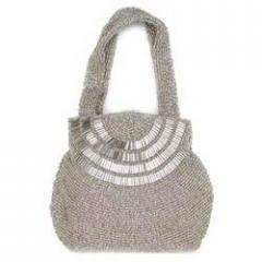 White Color Embroidered Bags