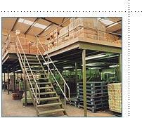 Steel mezzanine flooring
