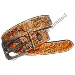 Concho Accent Western Leather Belt