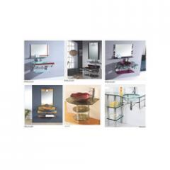 Glass Basin Bathroom Cabinets
