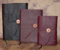 Leather covers for books