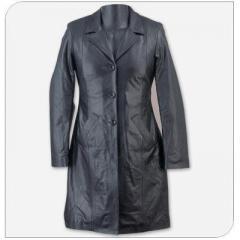 Long leather Coat