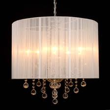Lamps with crystal pendants