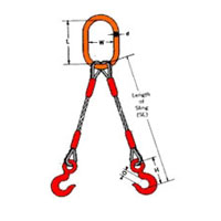 Double Legged Wire Rope Slings
