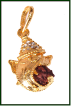 Exclusive gold plated Rudrax pendant