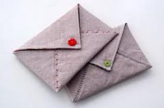 Fabric craft envelope