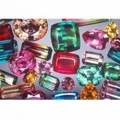 Multi tourmaline gemstones