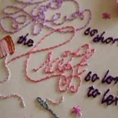 Embroidery papers