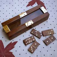 Wooden Domino Holder