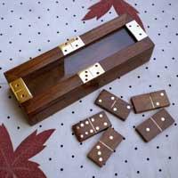 Wooden Domino Holder