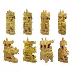 Carved Ambawari Statues